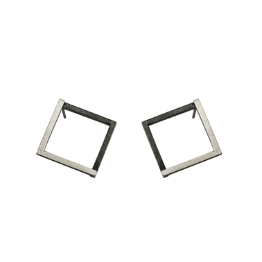 Large Geom Stud Earrings