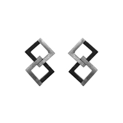 Geom Balance Earrings Oxidised
