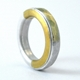 ring within a ring, silver and gold 2