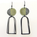 Island earrings green
