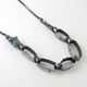 5-oval necklace, oxidised