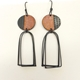 Islands Earrings with Arch Loops Rust