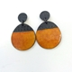 Buoy Earrings Round Burnt Ornage