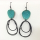 Flotsam Earrings Deep Turquoise