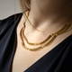 Kyoto necklace - gold-plated silver - 2  layer- model image- by Clara Breen