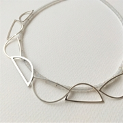 Nine wire shape necklace