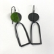 Islands earrings green
