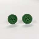 Stud earrings green