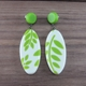 Fern oval drop earrings
