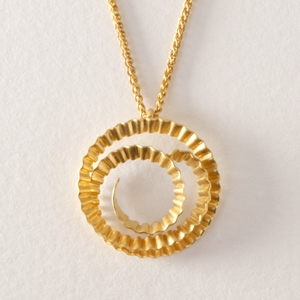 Spiral pendant - gold by Clara Breen