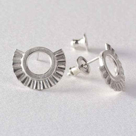 Small Sunray earrings - silver- by Clara Breen