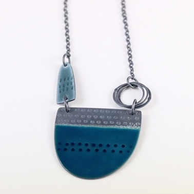 Tidal necklace teal
