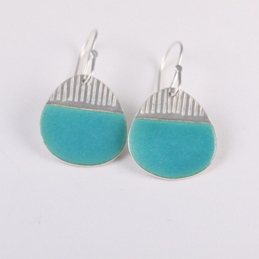 Island drop earrings, turquoise