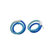 Royal and Aqua Twist Earrings