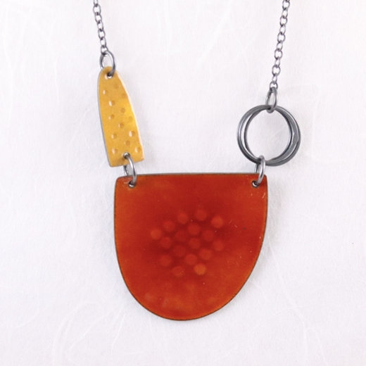 Tidal necklace orange and yellow