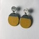 Buoy earring round yellow side