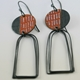 Islands earrings Rust