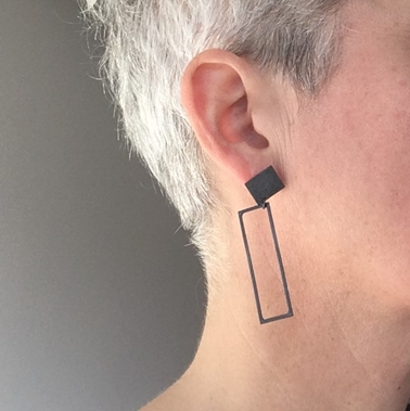 Two Rectangles earrings