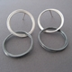Double coil hoop earrings