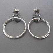 Coil drop earrings