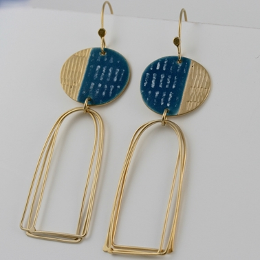 Islands e/r blue & gold plated