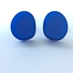 Oval studs blue