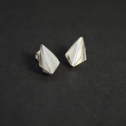 large folded bud stud earrings