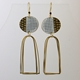 Island Earrings with Arch Loops White
