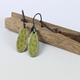 Pip earrings Olive Green