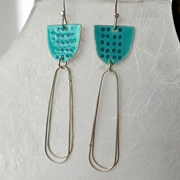 Libby earrings light teal