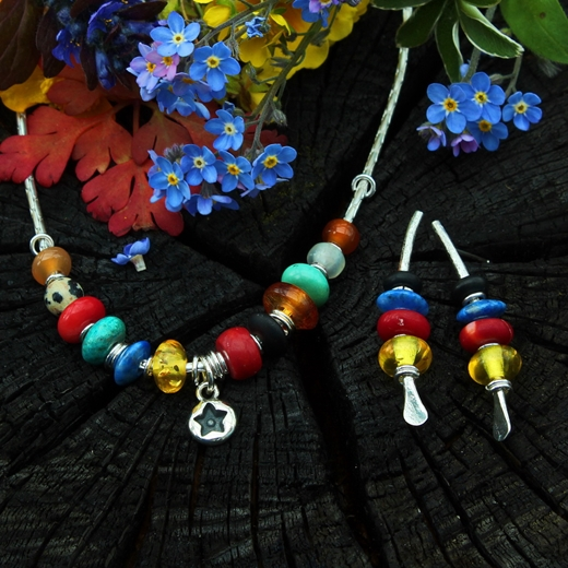 multi coloured earrings 4, 2A