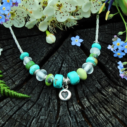 turquoise heart necklace 2