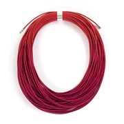 ruby coil necklace
