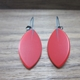 red drop leaf earrings