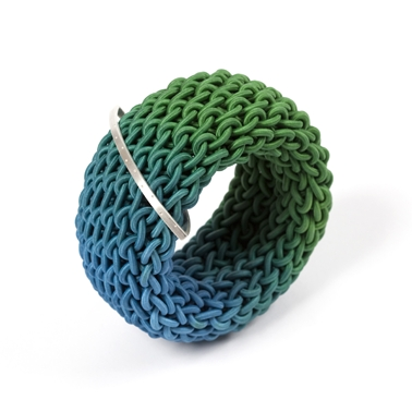 Ombre Green and Blue Tug Bangle