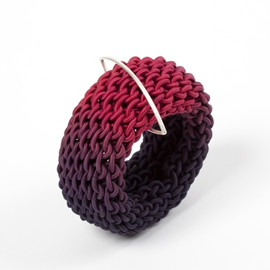 Ombre Ruby Curved Tug Bangle