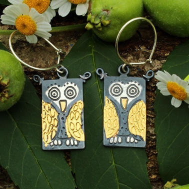 owl earrings 1