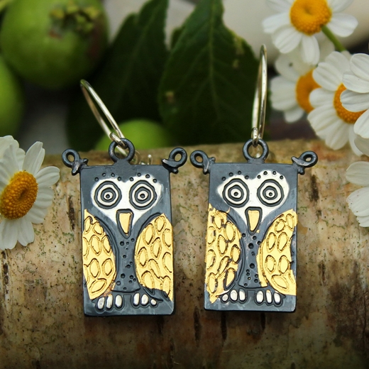 owl earrings 2