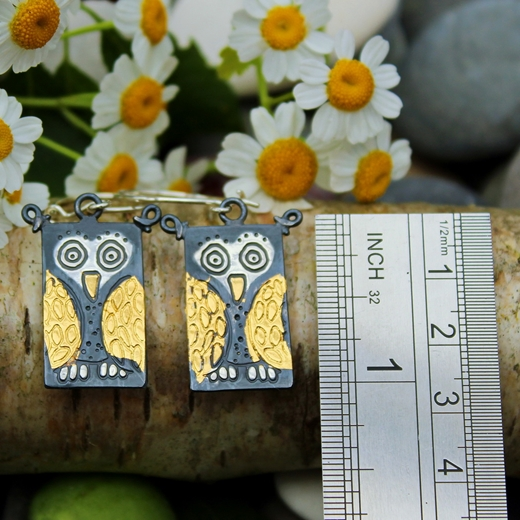 owl earrings measurement guide