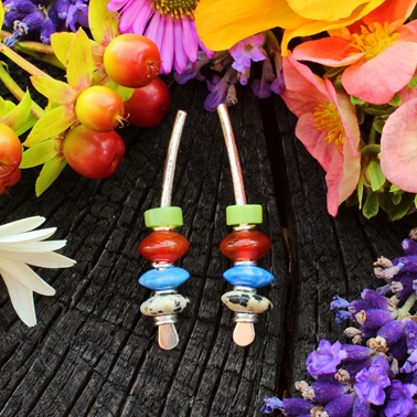 multi-coloured earrings no.6, 1