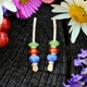 Multi-coloured earrings no. 6 small