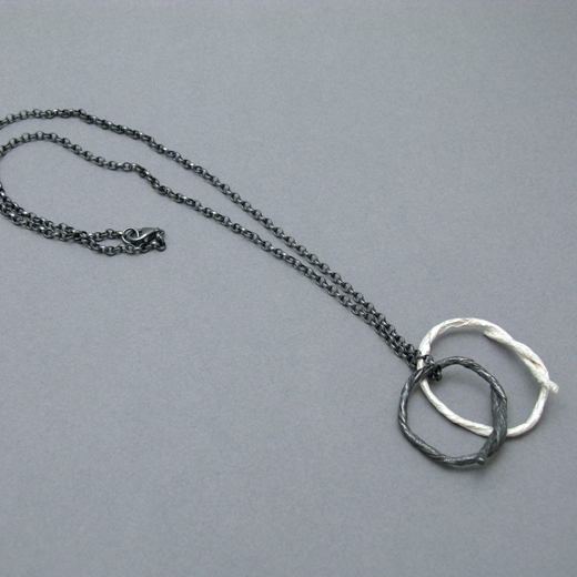 double string loop pendant on oxi chain