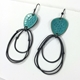 Flotsam earrings with loops