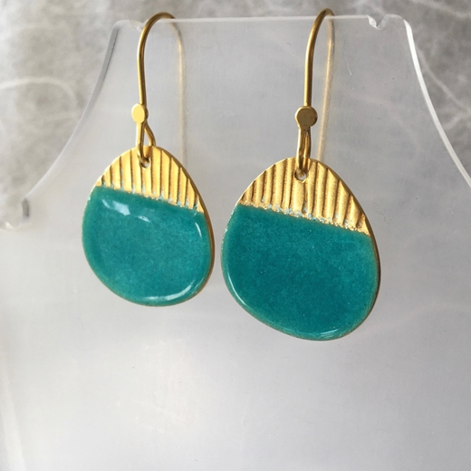 Island drops, gold & turquoise
