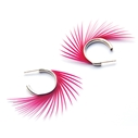 Dark Fuchsia Spiky Stud Earrings