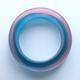 Bangle D thin teal/pink polyester resin