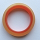 Bangle D thin orange/red polyester resin