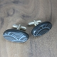 oval wave cufflinks