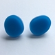 large oval studs blue