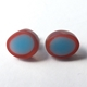 tiny oval studs blue/red